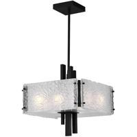 CWI Lighting 9973P13-6-101 Assunta 6 Light 13 inch Black Drum Shade Pendant Ceiling Light