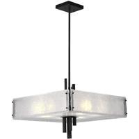 CWI Lighting 9973P24-10-101 Assunta 10 Light 24 inch Black Drum Shade Chandelier Ceiling Light