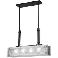 CWI Lighting 9973P28-4-101 Assunta 4 Light 5 inch Black Drum Shade Chandelier Ceiling Light