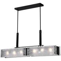 CWI Lighting 9973P45-6-101 Assunta 6 Light 5 inch Black Drum Shade Chandelier Ceiling Light