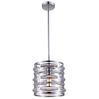 CWI Lighting 9975P10-1-601 Petia 1 Light 10 inch Chrome Mini Pendant Ceiling Light