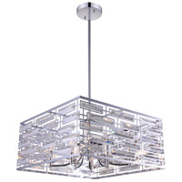 CWI Lighting 9975P21-8-601 Petia 8 Light 21 inch Chrome Drum Shade Chandelier Ceiling Light