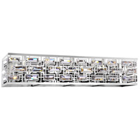 CWI Lighting 9975W34-5-601 Petia 5 Light 34 inch Chrome Wall Sconce Wall Light
