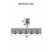 Petia 5 Light 34 inch Chrome Wall Sconce Wall Light