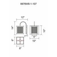 CWI Lighting 9976W8-1-107 Calypso 1 Light 8 inch Antique Copper Wall Light