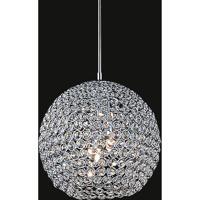 CWI Lighting QS8351P10C Globe 1 Light 10 inch Chrome Pendant Ceiling Light