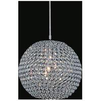 CWI Lighting QS8351P12C(T) Globe 1 Light 12 inch Chrome Pendant Ceiling Light
