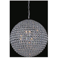 CWI Lighting QS8353P16C Globe 6 Light 16 inch Chrome Chandelier Ceiling Light