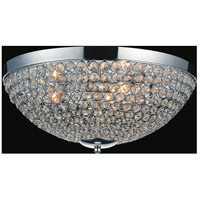 CWI Lighting QS8357C12C Globe 3 Light 12 inch Chrome Bowl Flush Mount Ceiling Light