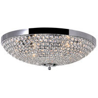 CWI Lighting QS8357C20C Globe 6 Light 20 inch Chrome Bowl Flush Mount Ceiling Light
