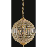 CWI Lighting QS8370P12G Globe 1 Light 12 inch Gold Pendant Ceiling Light