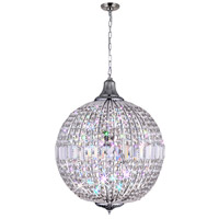 CWI Lighting QS8370P18C Globe 4 Light 18 inch Chrome Chandelier Ceiling Light
