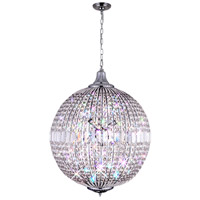CWI Lighting QS8370P22C Globe 6 Light 22 inch Chrome Chandelier Ceiling Light
