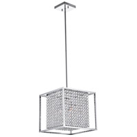 CWI Lighting QS8381P12C-S Cube 3 Light 12 inch Chrome Chandelier Ceiling Light