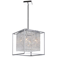 CWI Lighting QS8381P14C-S Cube 5 Light 14 inch Chrome Pendant Ceiling Light