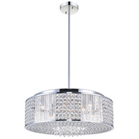 CWI Lighting QS8387P22C-R Sarina 12 Light 22 inch Chrome Chandelier Ceiling Light