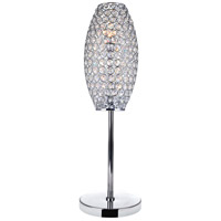 Sage 23 inch 40 watt Chrome Table Lamp Portable Light