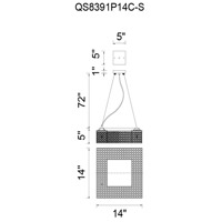 CWI Lighting QS8391P14C-S Dannie 8 Light 14 inch Chrome Pendant Ceiling Light