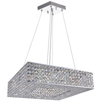 CWI Lighting QS8391P18C-S Dannie 8 Light 18 inch Chrome Chandelier Ceiling Light