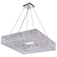 CWI Lighting QS8391P24C-S Dannie 12 Light 24 inch Chrome Chandelier Ceiling Light