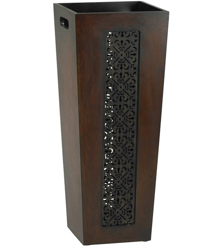 Umbrella Stand Designs : Cyan design heritage mahogany and rustic iron umbrella