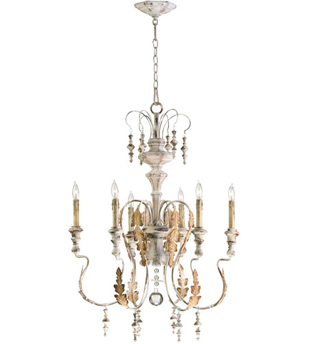 Persian White Wood Chandeliers