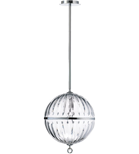 Janus Globe 1 Light 14 Inch Chrome Pendant Ceiling Light Large