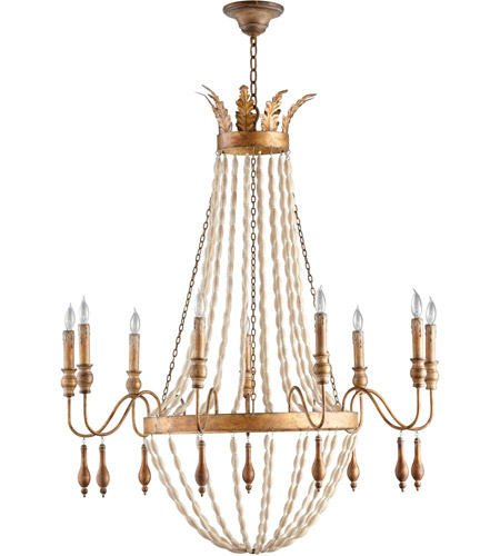 Currey And Company Lotus Chandelier: Currey & Company 9494 Grand Lotus 6 Light 30 Inch Antique