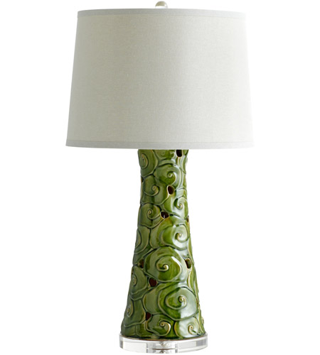 Emerald Linen Table Lamps