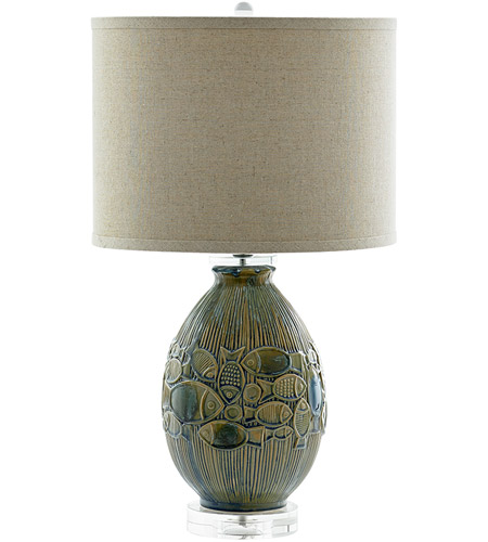 Blue Ceramic Crystal Table Lamps