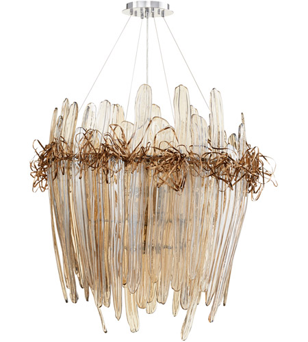 Cyan Design 07986 Thetis 12 Light 37 Inch Chrome And Copper Chandelier Ceiling Large