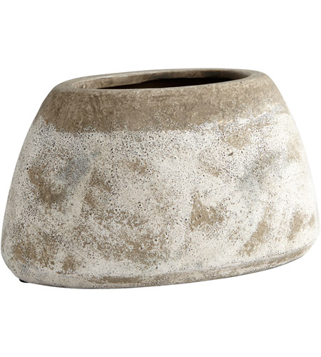 Cyan Design 08404 Stoney Ash Stone Outdoor Planter, Small photo