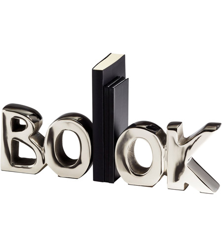 Cyan Design 08944 The Book 7 inch Nickel Bookends photo