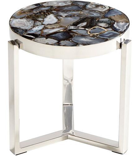 Cyan Design 08985 Geodance 17 Inch Nickel Side Table Photo