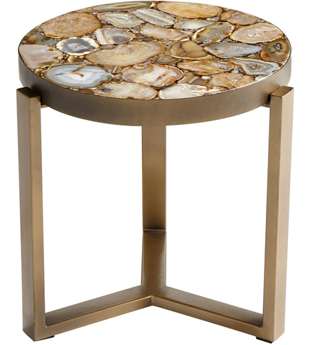 Cyan Design 08986 Sundance 17 Inch Antique Brass Side Table