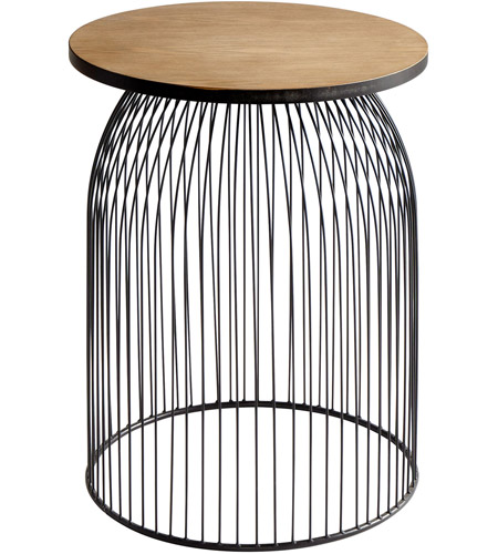 Stupendous Cyan Design 09043 Bird Cage 24 Inch Graphite And Natural Wood Stool Gamerscity Chair Design For Home Gamerscityorg