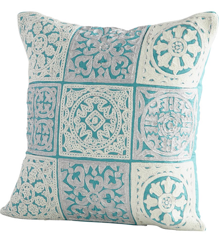 Cyan Design 09301-1 Signature 18 X 18 inch Blue Pillow Cover photo