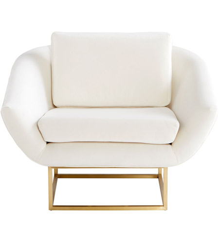 Cyan Design 09596 Shiva Brushed Brass Accent Chair photo