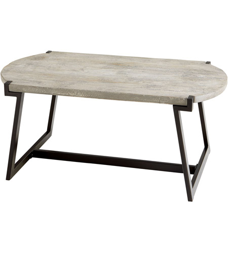 Cyan Design 09603 Signature 40 X 18 Inch Weathered Grey Coffee Table