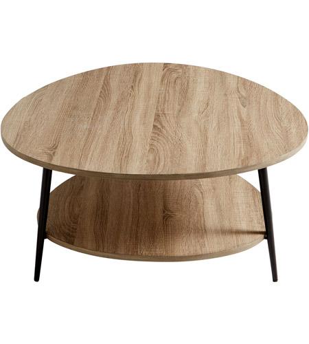 Cyan Design 09625 Moon Shot 36 X 35 Inch Oak Veneer And Black Coffee Table