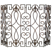 Wrought Iron 31 inch Fire Screen