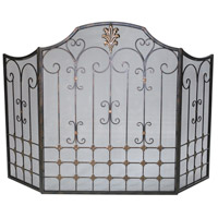 Bronze Bronze with Gold Accents Fire Screen