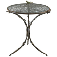 Bird Muted Rust Bistro Table Home Decor