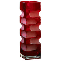 Ruby Etched Red Vase, Large