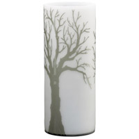 Oak Alley Acid White and Smoke Vase, Large