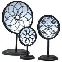 Cyan Design 01887 Spirograph Black Mirror Stand