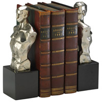 Hercules 6 X 3 inch Nickel Bookends