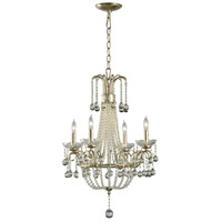 Cyan Design 01954 Genevieve 4 Light 19 inch Silver Leaf Chandelier Ceiling Light