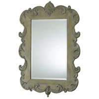 Vintage French 35 X 24 inch Oyster Silver Mirror Home Decor