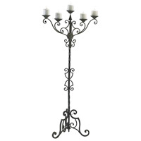 Rialto 57 inch Antique Patina Floor Candelabra Portable Light